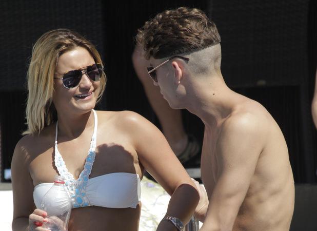 Sam Faiers, Joey Essex, Marbella, bikini, holiday, pool, TOWIE