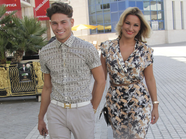Joey Essex and Sam Faiers arrive at the Tibu club in Puerto Banus.