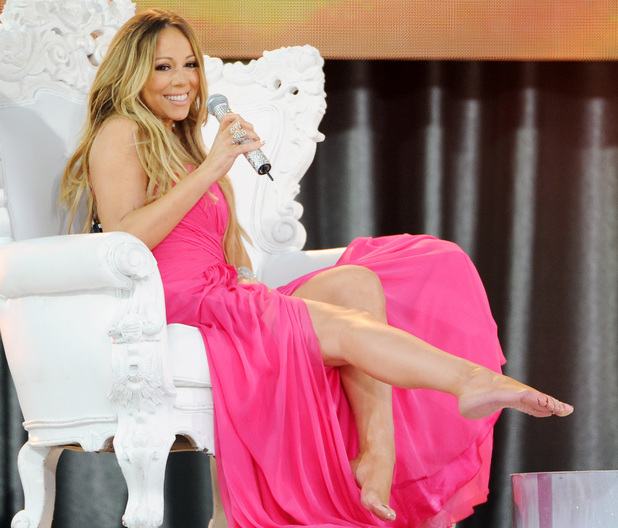 "Mariah Carey performs on ABC's ""Good Morning America""."