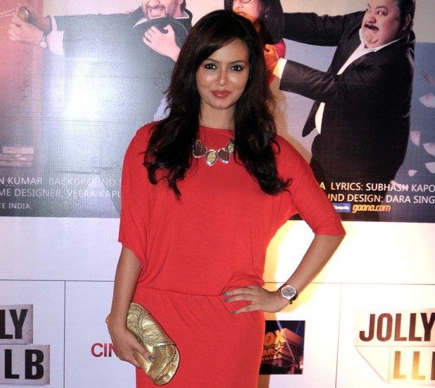Sana Khan at the premiere of 'Jolly LLB' ~~ March 13, 2013