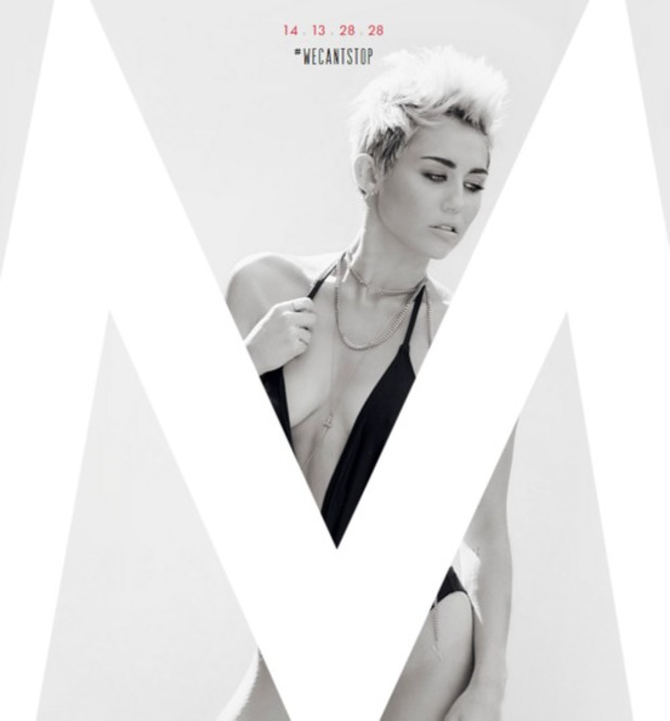 Miley Cyrus 'We Can't Stop' single countdown art.