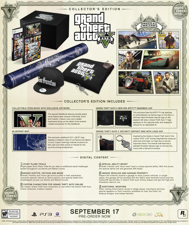 The 'Grand Theft Auto Five' collector's edition