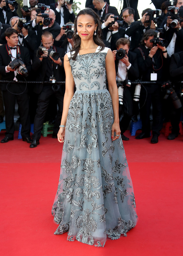 Zoe Saldana, Blood Ties, 66the Cannes Film Festival, Valentino gown