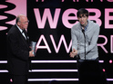 GIF format creator clarifies pronunciation in Webby Awards acceptance speech.