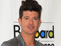The singer leads the Hot 100 with 'Blurred Lines' for a fifth consecutive week.