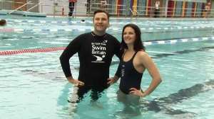 David Walliams takes part in the SwimBritain challenge