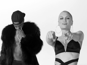Jessie J, Big Sean and Dizzee Rascal in 'Wild' music video.