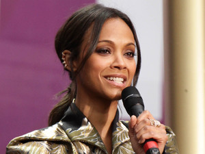 Zoe Saldana at the Chime for Change Live concert held at Twickenham Stadium, London.