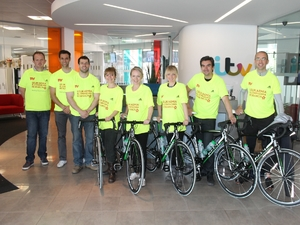 Team Emmerdale for the Great Manchester Cycle