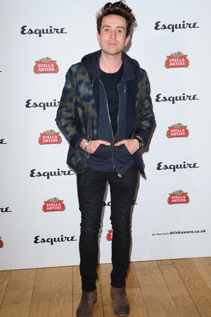 Nick Grimshaw arriving at the Esquire and Stella Artois party, to launch the Esquire Your Life supplement at Somerset House, London