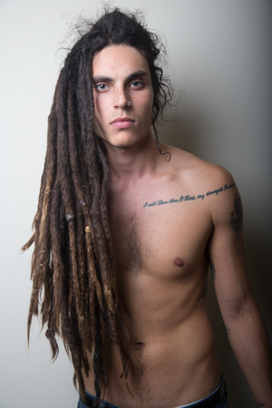 Samuel Larsen, dreadlocks, shirtless, Glee, gay spy, Chelsea Lauren