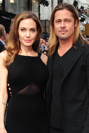 Angelina Jolie and Brad Pitt arriving for the World premiere of World War Z.