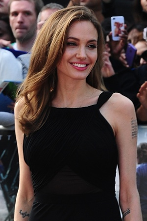 Angelina Jolie arrivines for the World premiere of World War Z.