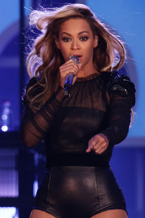Beyonce performs at the Chime for Change Live concert held at Twickenham Stadium, London.