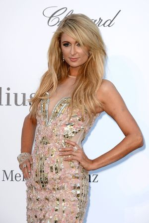 Paris Hilton wearing a Falguni & Peacock gown