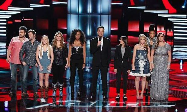 'The Voice' Season 4 Top 8 performances: Zach Swon, Colton Swon of The Swon Brothers, Danielle Bradbery, Holly Tucker, Sasha Allen, Carson Daly, Michelle Chamuel, Amber Carrington, Judith Hill, Sarah Simmons