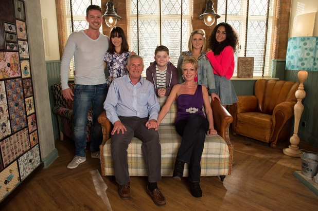 The Osborne family in Hollyoaks