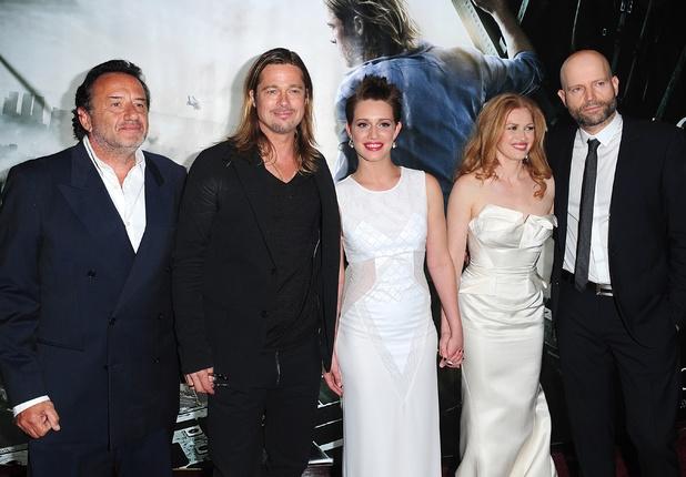 Ludi Boeken, Brad Pitt, Daniella Kertesz, Mireille Enos and Marc Forster a
