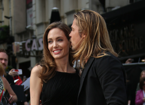 Angelina Jolie and Brad Pitt World premiere of World War Z.