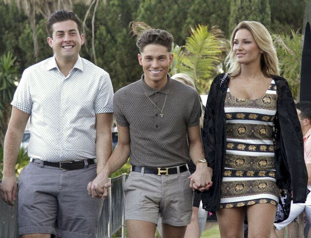 James Argent, Joey Essex and Sam Faiers