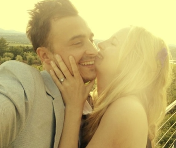 Candice Accola and Joseph Aaron King celebrate their engagement