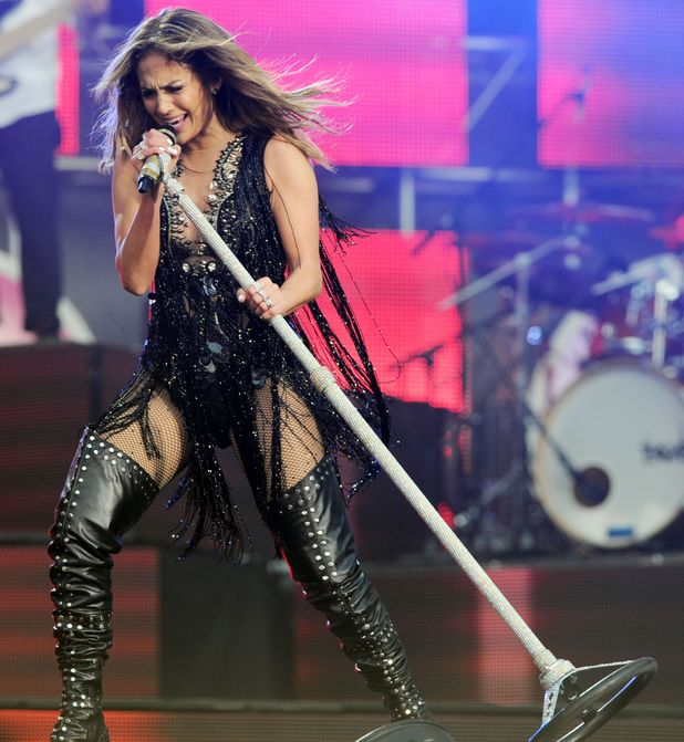 Jennifer Lopez at the Chime for Change Live concert held at Twickenham Stadium, London.