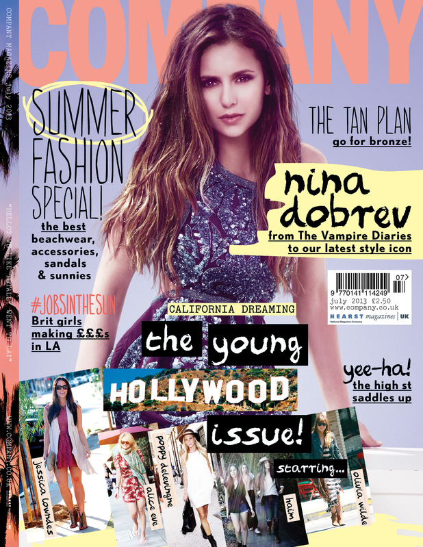 Nina Dobrev on the cover of Company magazine