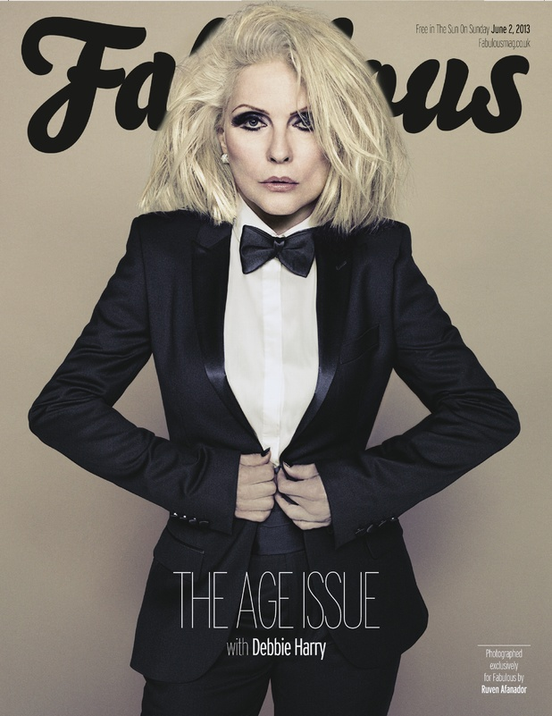 Debbie Harry on the cover of Fabulous magazine