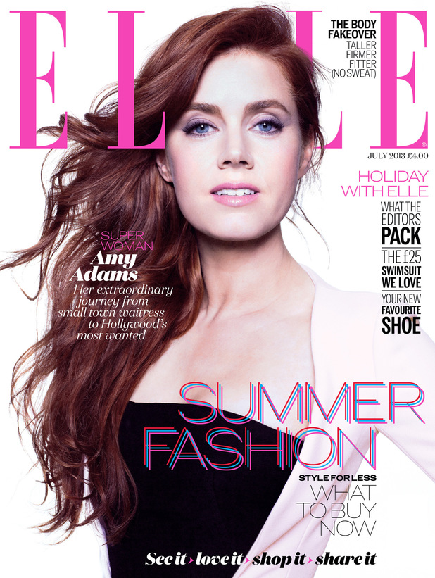 Amy Adams on the cover of Elle UK July Issue