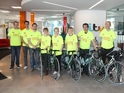 Cast members form a team for the Great Manchester Cycle on June 30.