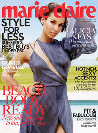 Marie Claire cover featuring Alicia Keys