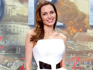 Angelina Jolie, Ralph & Russo peplum dress, 'World War Z' film premiere, Berlin
