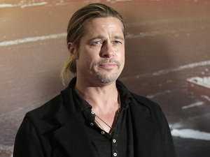 Brad Pitt attends the Australian premiere of World War Z.