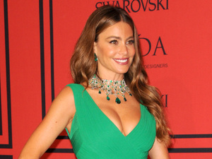 Sofia Vergara, plunging dress, 2013 CFDA Awards, fashion party in New York