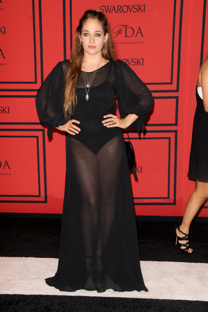 Jemima Kirke, 2013 CFDA Awards, New York, sheer dress
