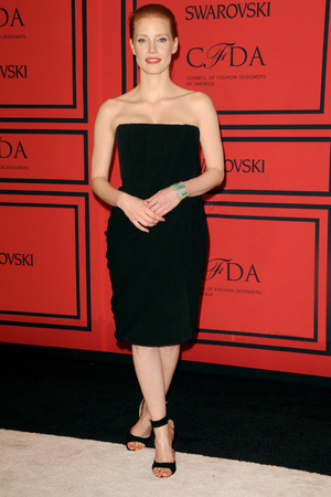 Jessica Chastain, 2013 CFDA Awards, New York, starpless dress