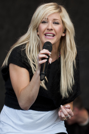 Ellie Goulding performs at the Rockness Festival in Inverness.