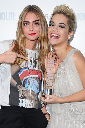 Glamour Women of the Year Awards 2013: Rita Ora (Solo Artist) with Cara Delevingne
