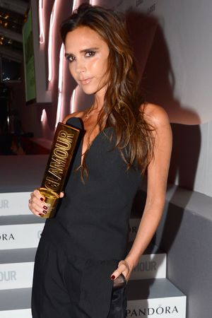 Glamour Women of the Year Awards 2013: Victoria Beckham with her 'Woman of the Decade' award