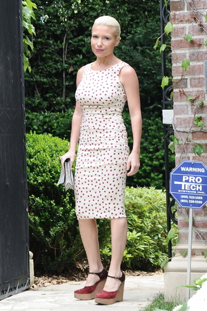 Tracy Anderson attending Kim Kardashian's baby shower