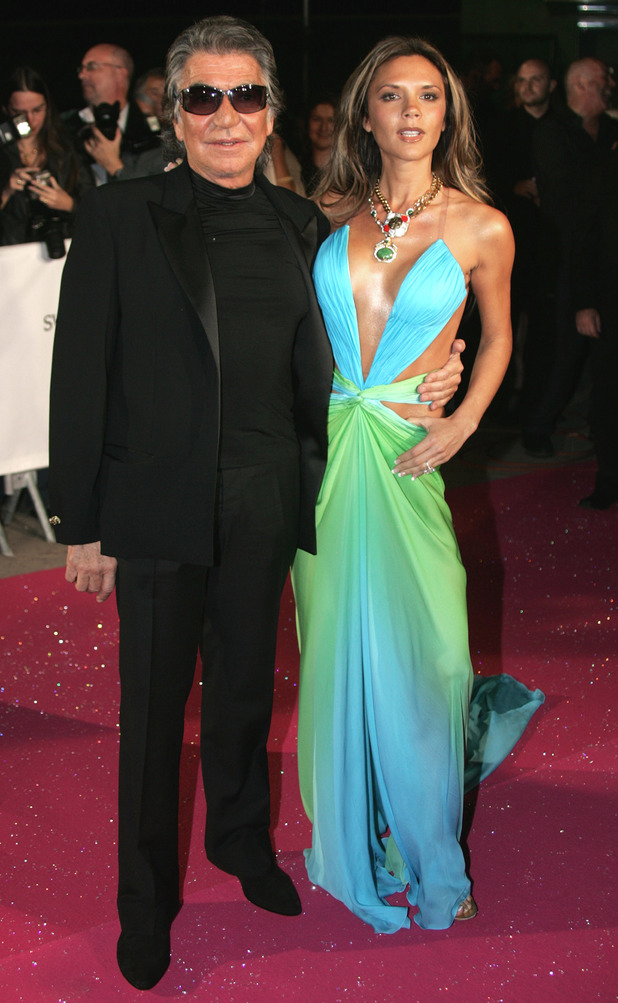 Roberto Cavalli and Victoria Beckham