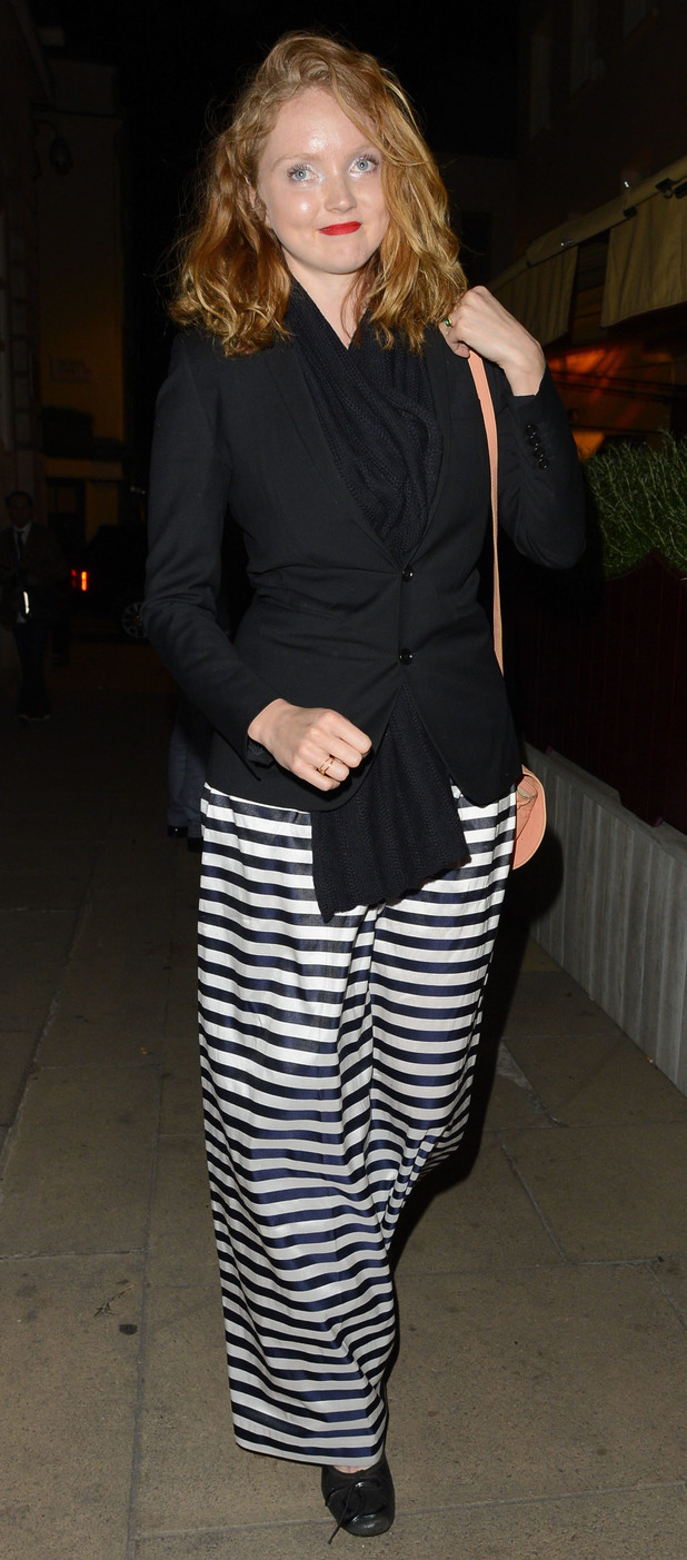Lily Cole enjoys a night at Lou Lou's in Mayfair.