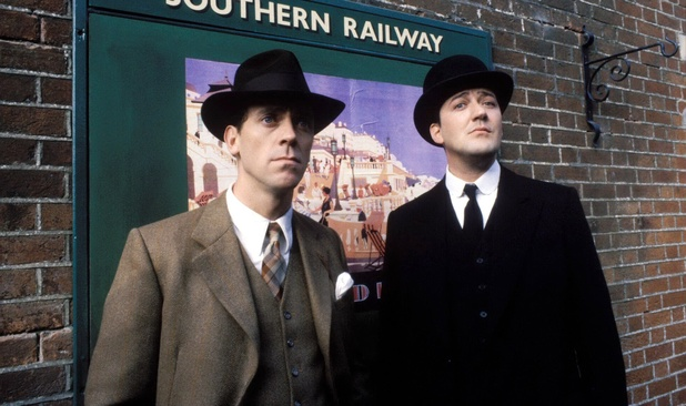 Hugh Laurie & Stephen Fry as Jeeves & Wooster