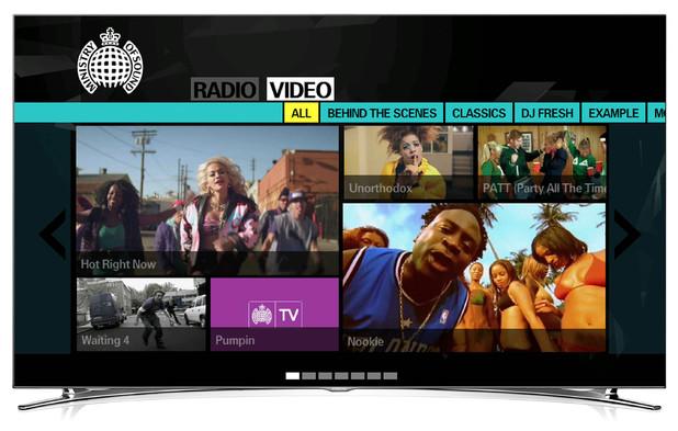 Ministry of Sound Samsung SmartTV app