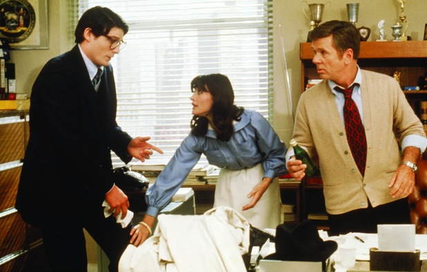 Christopher Reeve, Jackie Cooper, Margot Kidder in 'Superman' (1978)