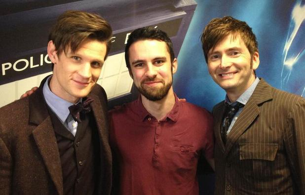 Matt Smith and David Tennant on set for the 'Doctor Who' 50th special.