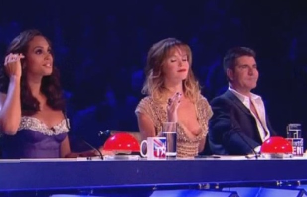 Amanda Holden has wardrobe malfunction on BGT final