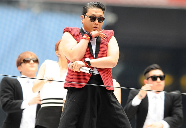 Psy peforms Gangnam Style at the Capital FM Summertime Ball.