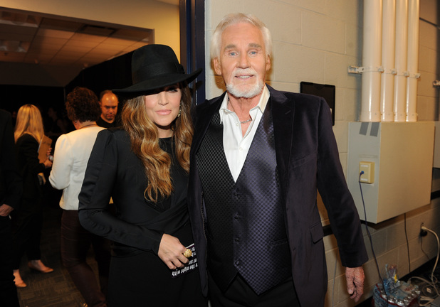 Lisa Marie Presley and Kenny Rogers