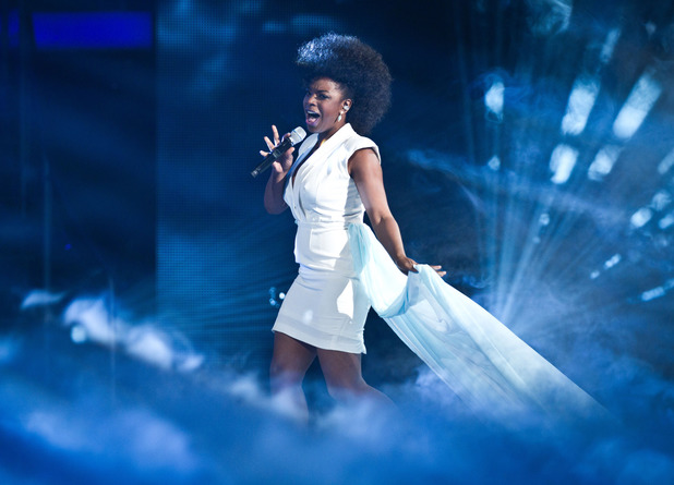Cleo Higgins performs on the first live show of The Voice